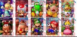 Amiibo Card (zelda, Splatoon, Mario Kart, Smash Bros).
