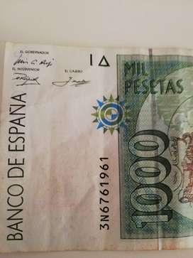 Billete de 1000 pesetas 1992