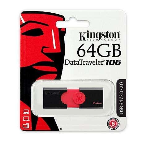 Memoria Usb Kingston 64gb Dt106 100 Original 0