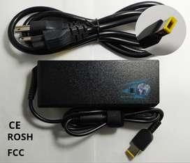 Cargador para laptop LENOVO 20V 3.25A 65W. Punta USB