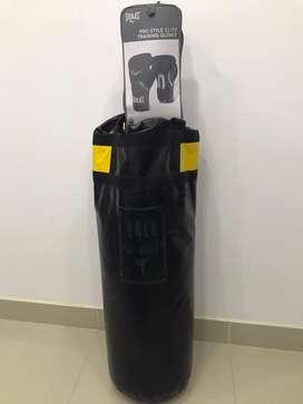 Vendo guantes everlast originals+ saco de boxeo