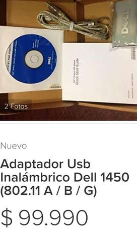 ADAPTADOR USB INALÁMBRICO DELL 1450 NUEVO