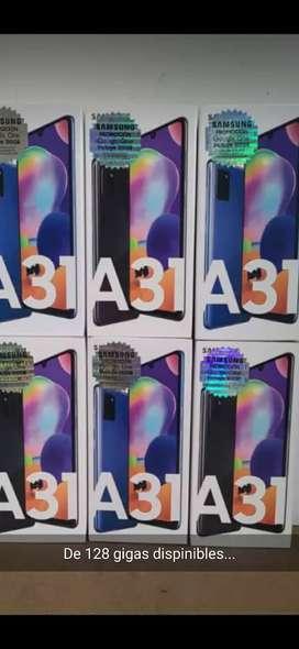 SAMSUNG A31 DE 128 GB NUEVOS DE PAQUETE SELLADOS GARANTIZADOS DE LOCAL ENTREGA TAMBIEN A DOMICILIO
