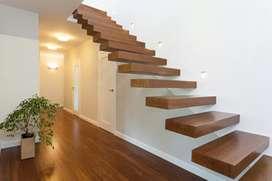 Escaleras modernas en madera