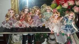 Muñequitas movibles en porcelana fría hermosos regalitos de navidad