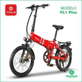 GreenLine Bicicleta Eléctrica Plegable TAILG FL1 Plus Aro 20