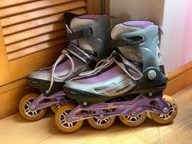 Patines Roller Chicos Skate De 4 Ruedas En Línea