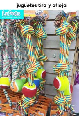 cuerdas juguete perro jalar mascotas