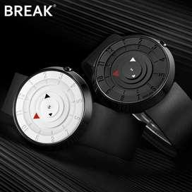 reloj para pareja ilusion of time relojes hombre mujer unisex analogo futurista minimalista
