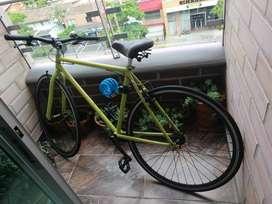 Bicicleta single speed tipo Fixie