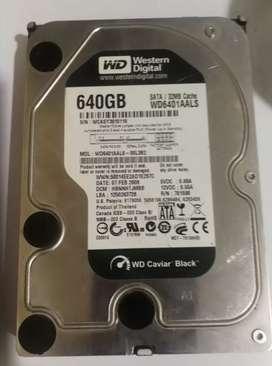 Disco duro HDD 640GB Western Digital Caviar Black