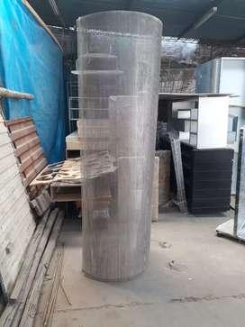 Plancha de acero inoxidable perforada. Lamina de inox