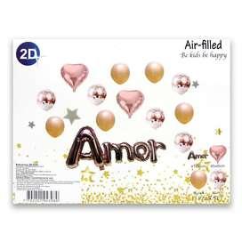 Set de globos de 13 piezas (AMOR)