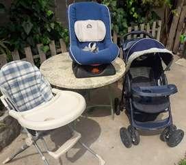 Coche bebé gracco / silla bebé / butaca auto bebe