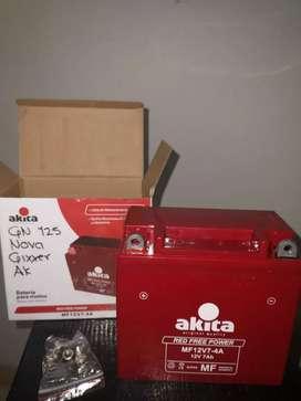 Se vende batería  para moto marca akita