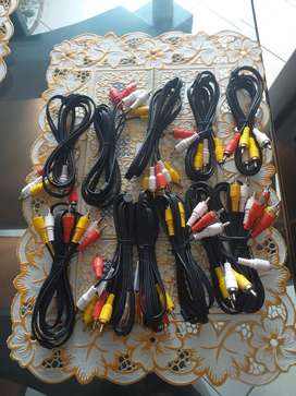 Vendo cables rca 3x3 o cable de audio y video.