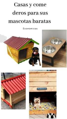 Se vende casitas de mascotas baratas ( perros y gatos)
