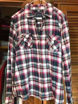 Camisa Cuadros Forever21 L