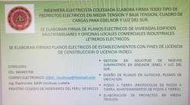 FIRMA, DISEÑOS DE PLANOS ELÉCTRICOS, INGENIERO ELECTRICISTA COLEGIADO