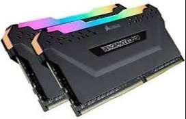 MEMORIA RAM CORSAIR - Vengeance RGB PRO 32GB (2PK 16GB). (NUEVO EN CAJA)