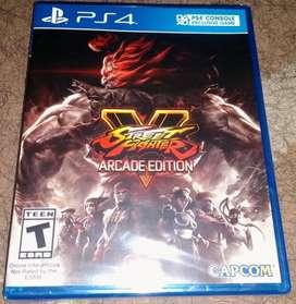 vendo  Street Fighter V Arcade Edition ps4