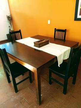 Vendo Mesa de cedro + 6 sillas