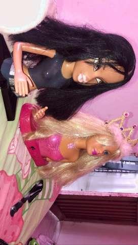 Barbie y bratz para peinar