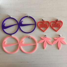 Aritos de plastico X4 pares hechos con impresora 3D