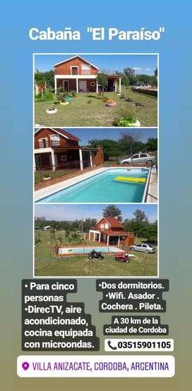 Cabaña El Paraiso - Anisacate Córdoba