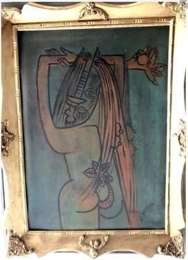 Wifredo Lam, s/t, oleo sobre lienzo