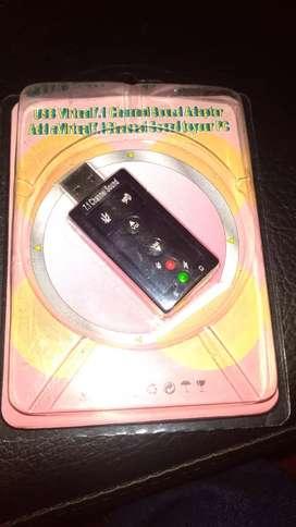 Adaptador Audio 7.1 Usb 3d / Tarjeta Sonido Externa