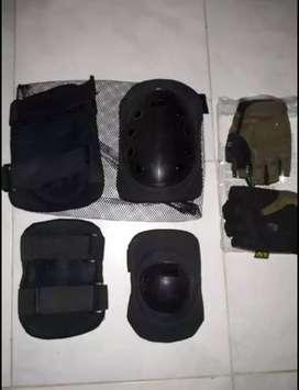 Se vende coderas rodilleras y guantes mechanix talle L