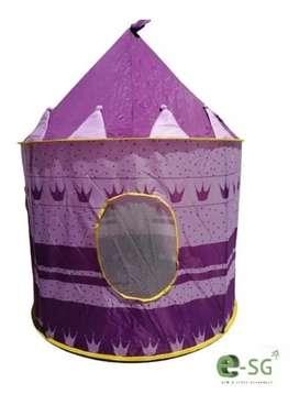 Carpa Castillo tienda para juego princesa  MORADO Y AZUL