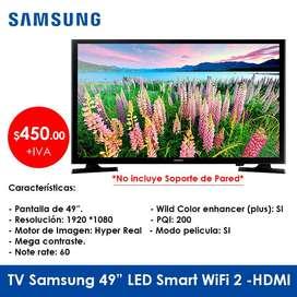 """TV Samsung 49"""" LED Smart WIFI 2-HDMI - Precio Oferta - De Promoción."""
