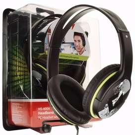 Diadema Microfono Genius Verde - HS-400A Diseño de auriculares estilo graffiti Auriculares estéreo con micrófono incorpo