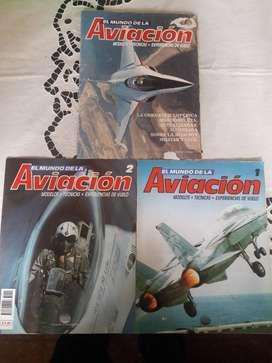 Revistas El Mundo De La Aviación Fascículo 1 & 2 + Poster Excelente!!!