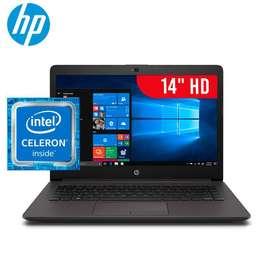 "LAPTOP HP 240 G7 CELERON DUAL CORE  N4000 4GB 500GB 14""HD  FACTURA"