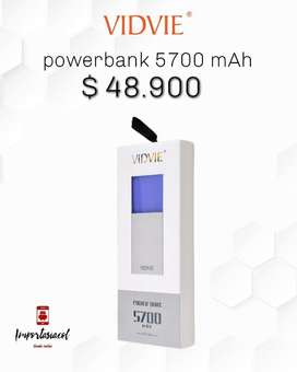 Powerbank Vidvie 5700mah