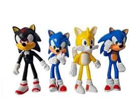 Set X4 Figuras Muñecos Sonic Tails 10cm Juguete Colección