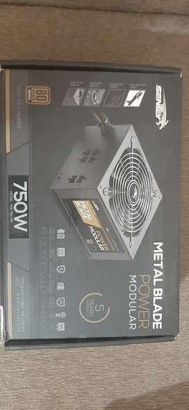 Fuente gamer sentey 750w metal blade modular plus