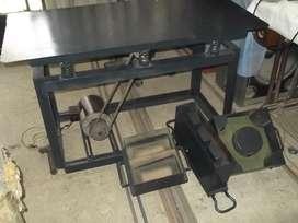 Mesa vibradora para fabricar ladrillos de concreto, moldes en general