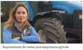 Vendedora de tractores agrícolas freelance