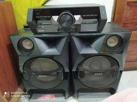 Equipo sonido Sony parlantes grandes