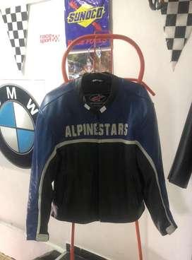 Alpinestars Talla L, Como Nueva, Cuero.