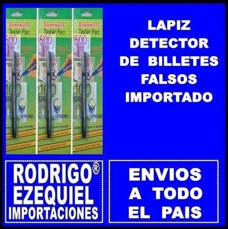 LAPIZ DETECTOR DE BILLETES FALSOS NUEVO IMPORTADO 0