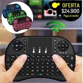 Control keyboard teclaco y mouse pad para PC smart tv consolas y mucho mas recargable retroiluminado