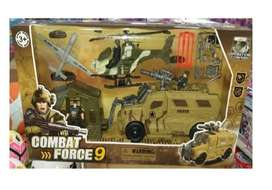 Set De Vehículos Militares Combat Force 9