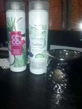 Cremas corporales pepino y aceite de coco $150 llevo a domicilio