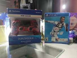 Mando ps4 camuflado Rojo + FIFA19