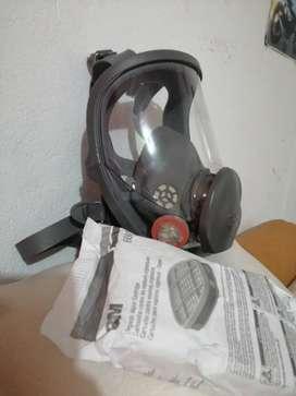 Vendo protector respiratorio 3m modelo 6800 más 3 cartuchos marca 3m modelo 6001